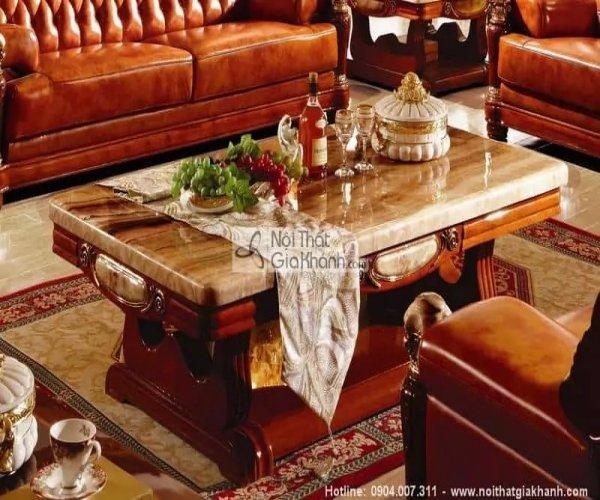 Tổng hợp những mẫu bàn trà sofa gỗ tự nhiên sồi, óc chó, hồ đào đẳng cấp nhất