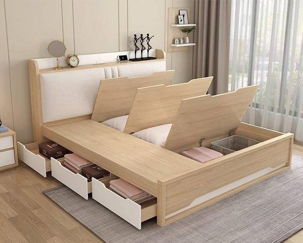 giường hộp gỗ đẹp tiện lợi