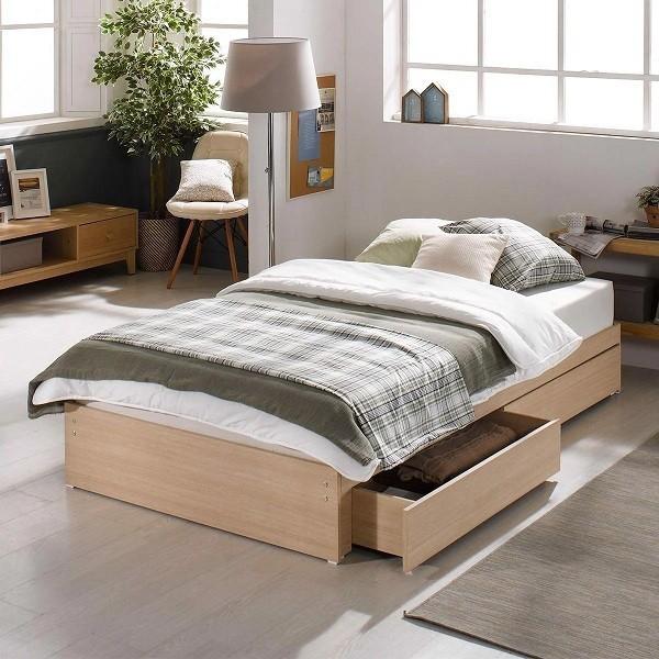 mẫu giường hộp gỗ công nghiệp có ngăn kéo
