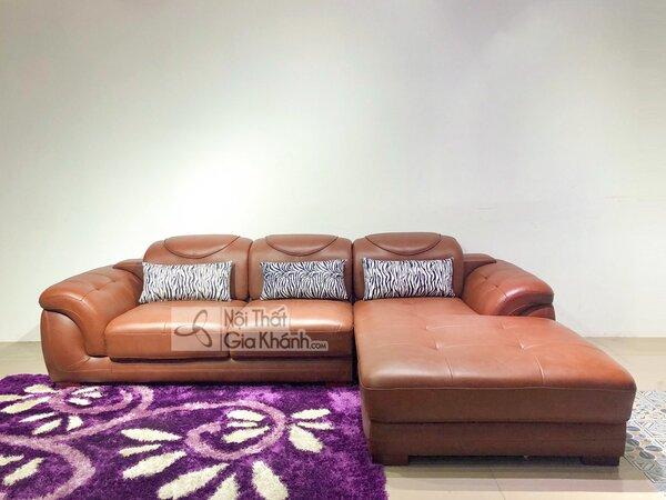Ghế sofa da phòng khách hiện đại đẹp