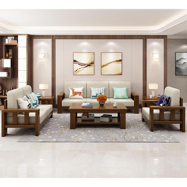 Sofa gỗ óc chó cao cấp sang trọng