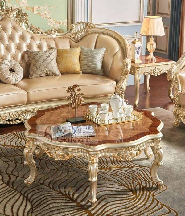 Bàn trà gỗ tròn - Tín đồ không thể thiếu trong phòng khách gia đình