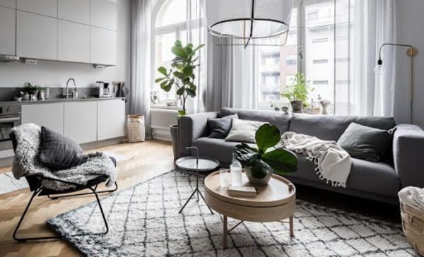 Làm mới không gian phòng khách với bàn trà hình oval bầu dục