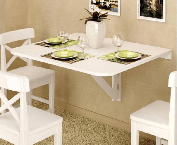 Bàn ăn 1m2 tiện ích tiết kiệm không gian bếp