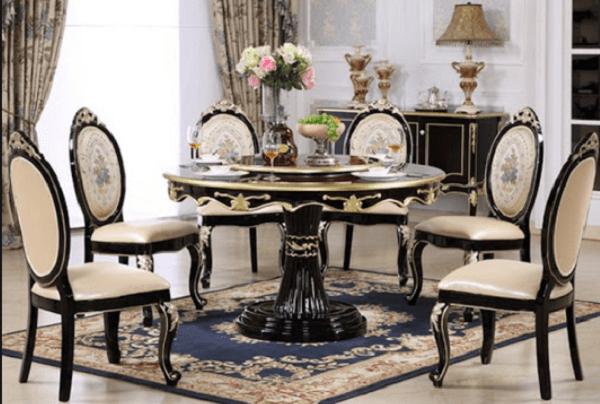 bàn ăn tròn 6 ghế