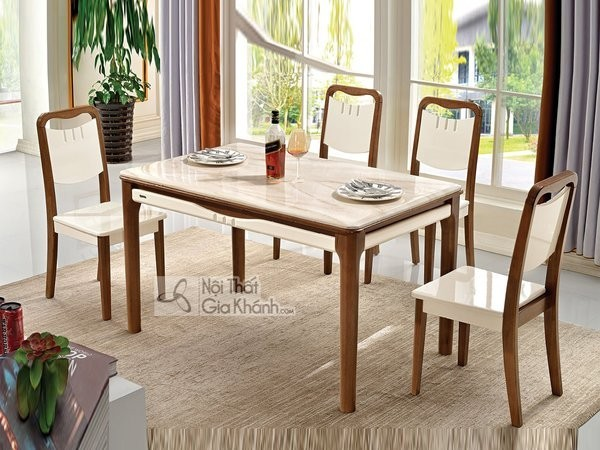Bàn ghế ăn gỗ công nghiệp đa dạng