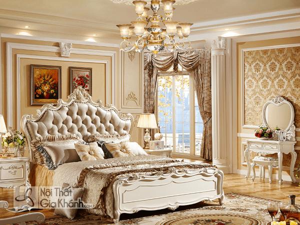 bộ nội thất phòng ngủ tân cổ điển sang trọng
