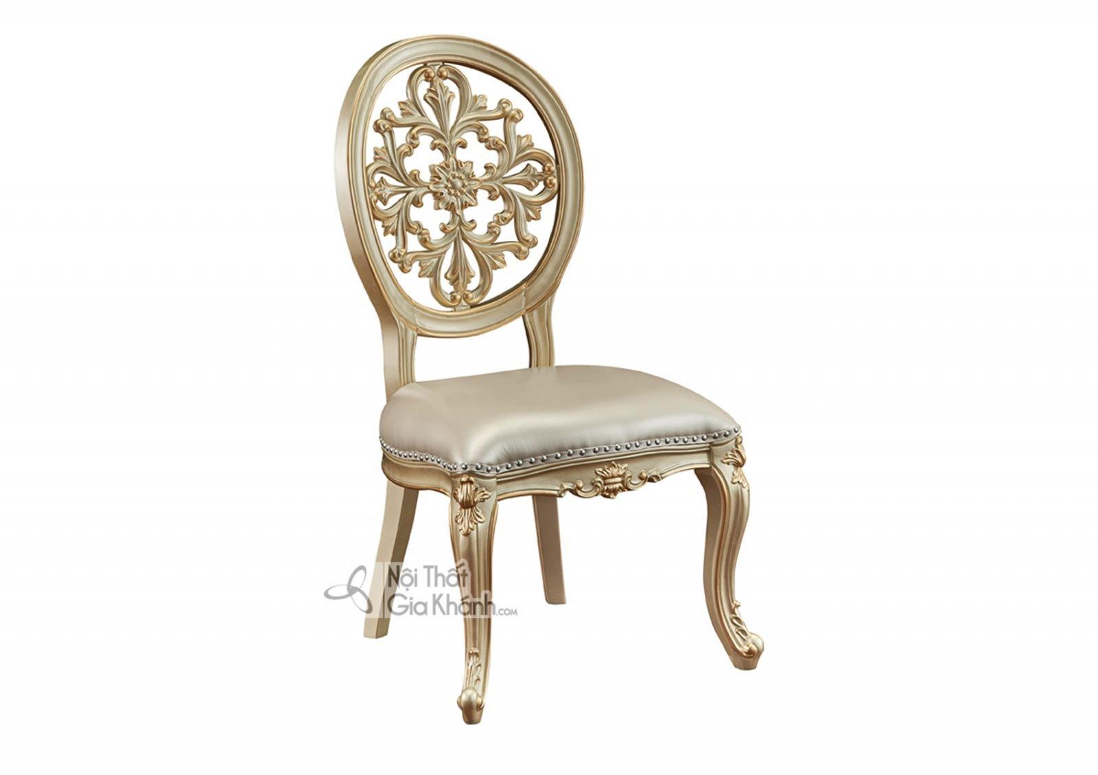 Ghế không tay Tân cổ điển màu vàng rượu Sampanh GA8801A đậm chất hoa mỹ