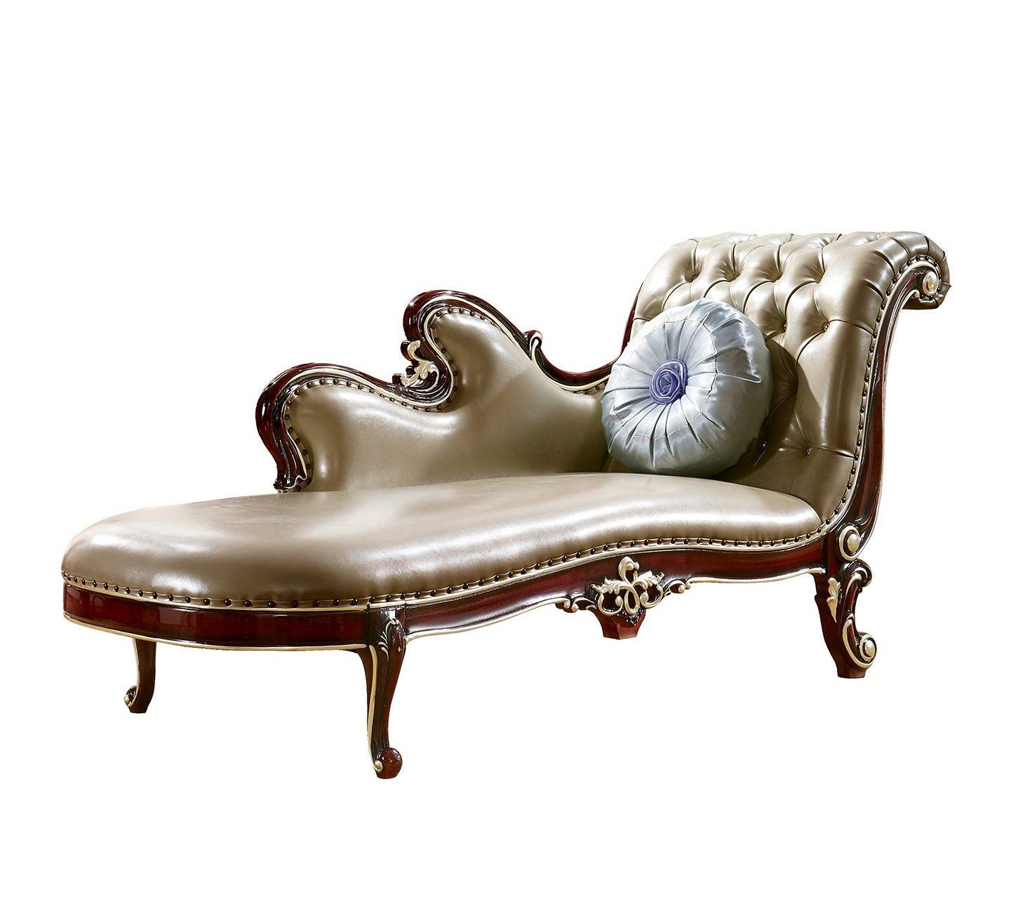Ghế quý phi Tân cổ điển màu rượu vang nho QP8802G phong cách Quý tộc
