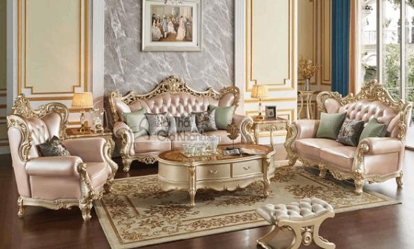 nội thất vàng đồng sofa da sofa nỉ