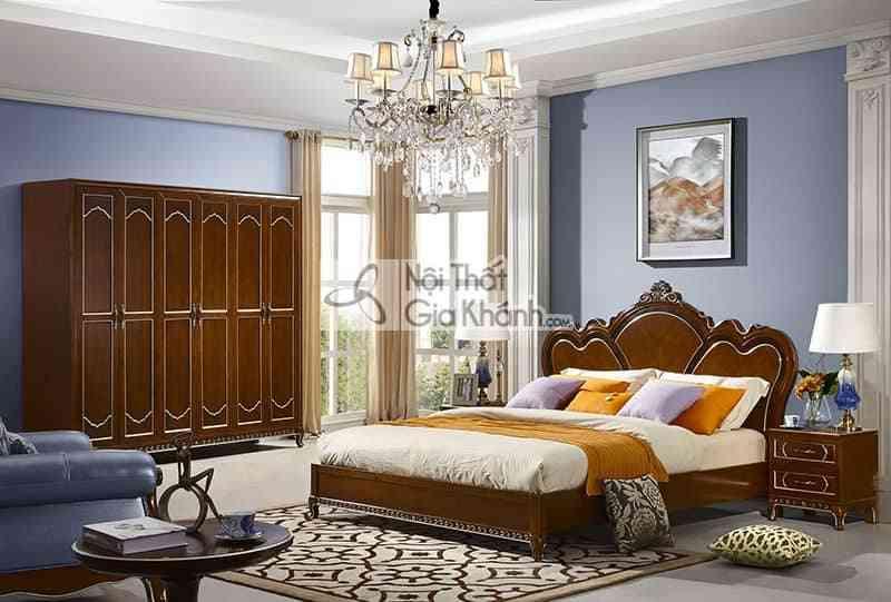Bộ phòng ngủ tân cổ điển gỗ Đỏ màu nâu cao cấp 29980BG - 29980BG Bo phong ngu