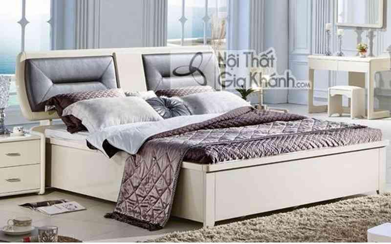 Giường Ngủ Chân Thấp Gỗ Tự Nhiên Hiện Đại 3323Al
