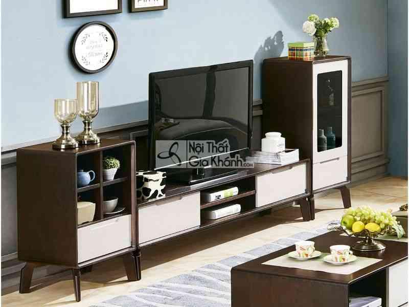 Mẫu kệ để tivi bằng gỗ phòng khách hiện đại 3327BK