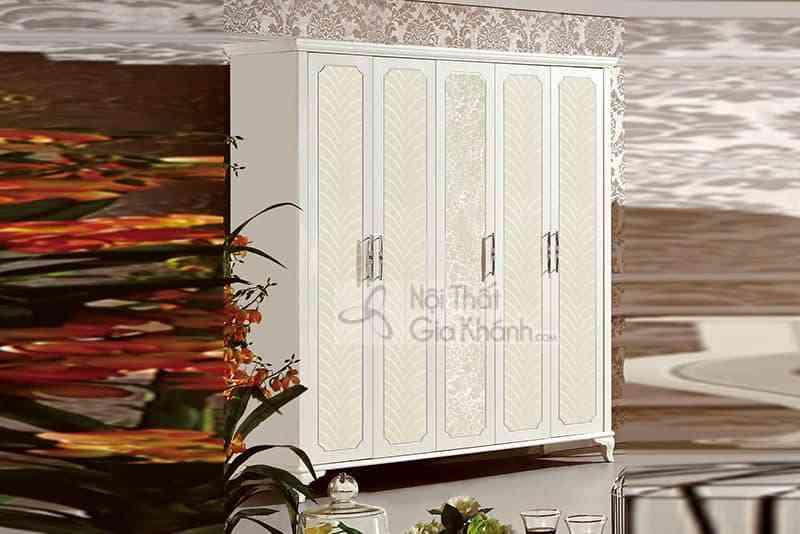 33661D tu 5 canh - Bộ phòng ngủ gỗ tân cổ điển Pháp 13660BG-1