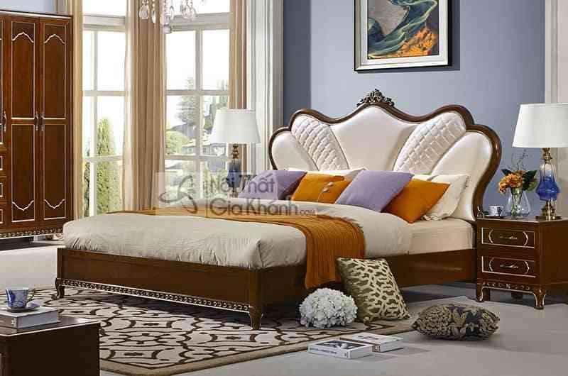 Bộ gường ngủ gỗ Đỏ nhập khẩu cao cấp 59982BG - 59982A Giuong