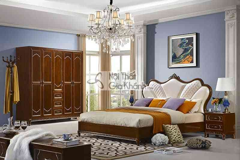 Bộ gường ngủ gỗ Đỏ nhập khẩu cao cấp 59982BG - 59982BG Bo phong ngu