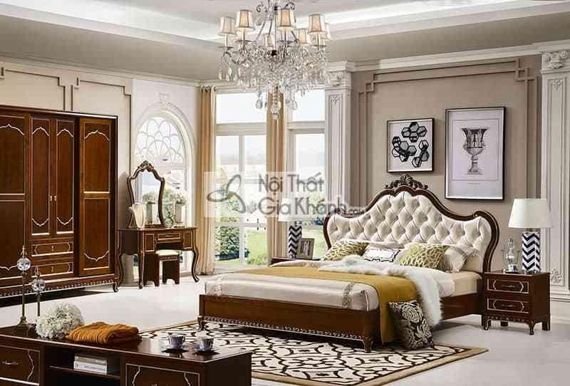 Bộ phòng ngủ gỗ Đỏ nhập khẩu phong cách Bắc Âu 69983BG