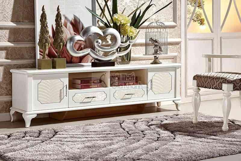 Kệ tivi gỗ 1m8 phòng khách tân cổ điển bằng gỗ công nghiệp 83609KT1.8