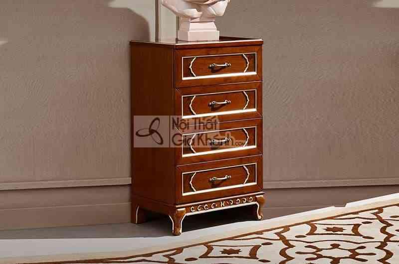Tủ 4 ngăn kéo tân cổ điển gỗ Đỏ cao cấp 89909K4 - 89909K4 tu 4 ngan keo