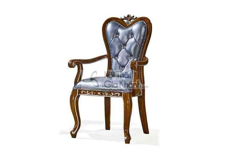 Ghế phòng ngủ có tay bọc da cao cấp màu xanh ngọc 89931GP