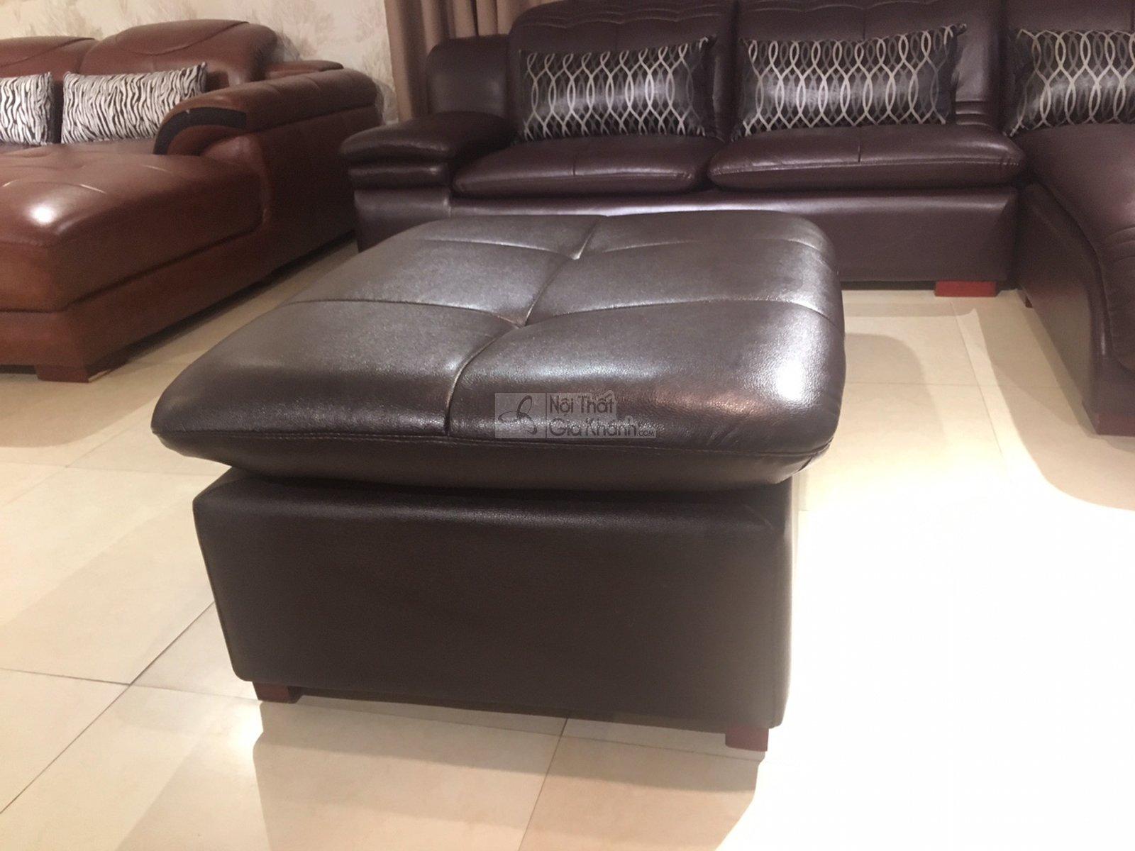 Đôn sofa da bóng màu nâu café cho phòng khách 9029DSF sang trọng - 9029DSF 2