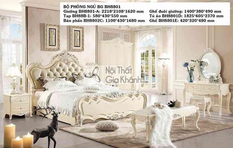 GIƯỜNG NGỦ TÂN CỔ ĐIỂN SANG TRỌNG BH8801AL - BO PHONG NGU 8801