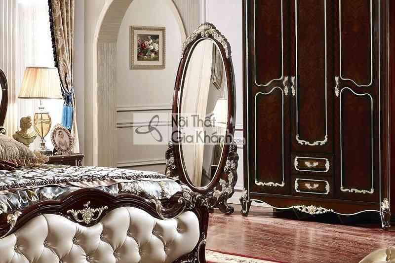 Gương soi toàn thân khung gỗ tân cổ điển KG8801G