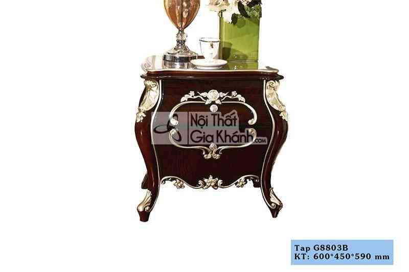 G8803B - Mẫu tủ gỗ đầu giường tân cổ điển đẹp TA8803G