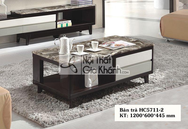Bàn trà (Bàn sofa) hiện đại gỗ công nghiệp mặt đá nhập khẩu HC5711-2