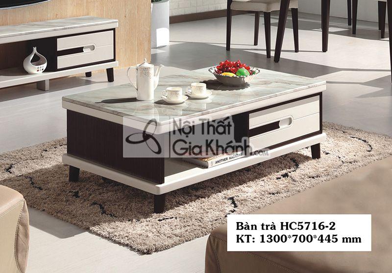 Bàn trà (Bàn Sofa) hiện đại đơn giản mặt đá cho chung cư HC5716-2