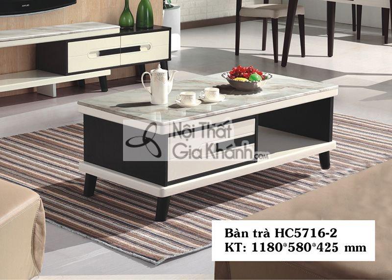 Bàn trà (Bàn Sofa) hiện đại gỗ mặt đá 1m18 sang trọng HC5716-2 - HC5716HC5716 2 2