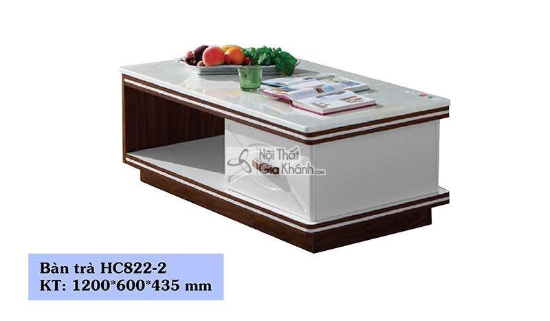 Bàn trà (Bàn Sofa) gỗ phòng khách mặt đá 1m2 hiện đại HC822-2 - HC822HC822 2