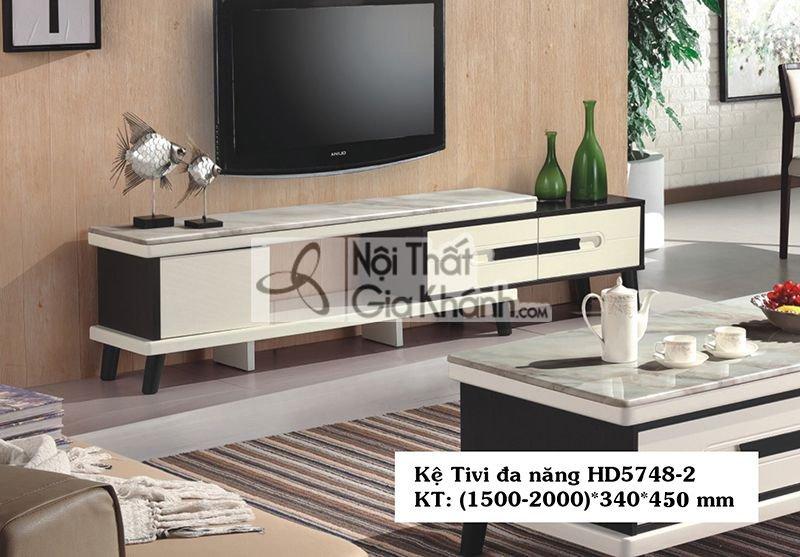 Kệ tivi đa năng hiện đại gỗ công nghiệp mặt đá nhập khẩu cao cấp HD5748-2