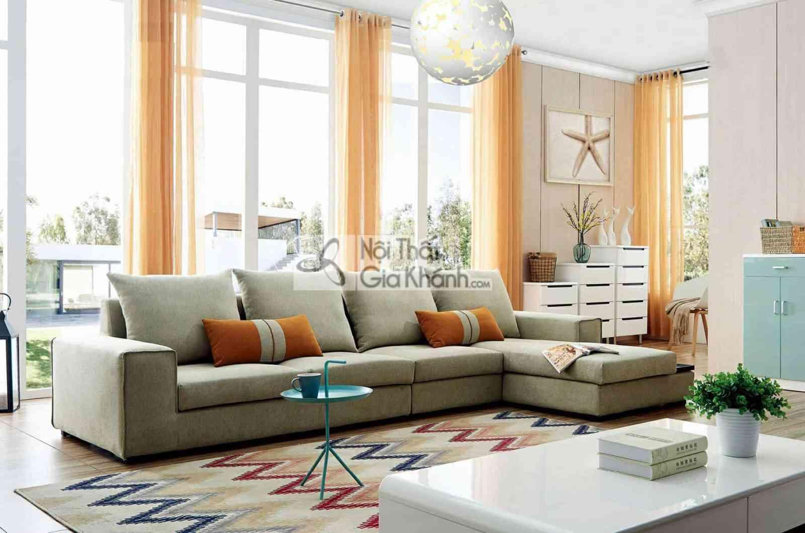 Sofa nỉ góc chữ L hiện đại SF309-2F - HD981 Original Size compressed