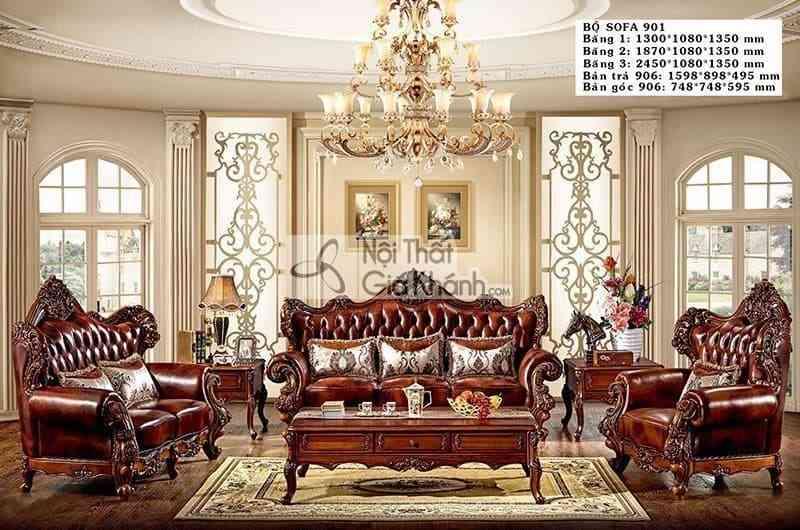 Sốc với giá sofa phòng khách cao cấp đẳng cấp đại gia - Soc voi gia sofa phong khach cao cap dang cap dai gia 1