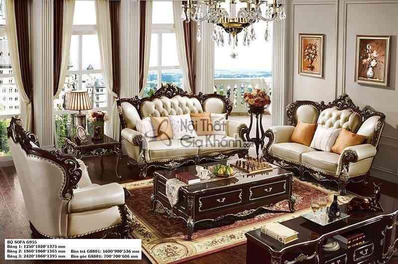 Sốc với giá sofa phòng khách cao cấp đẳng cấp đại gia - Soc voi gia sofa phong khach cao cap dang cap dai gia 4
