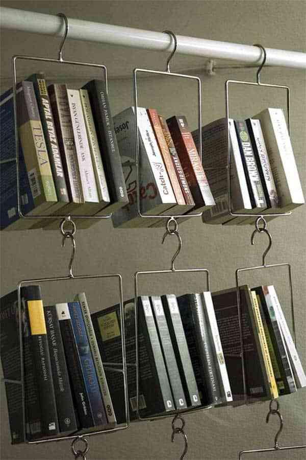 Tủ sách nhỏ cho nhà chung cư, nhà diện tích nhỏ - Tu sach nho cho nha nho 2