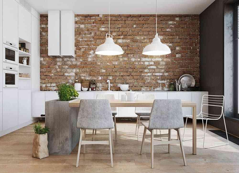 Bộ bàn ăn đa năng 6 ghế kết hợp ghế da HT5753-2BBA - bộ bàn ghế hiện đại sáng tạo 1