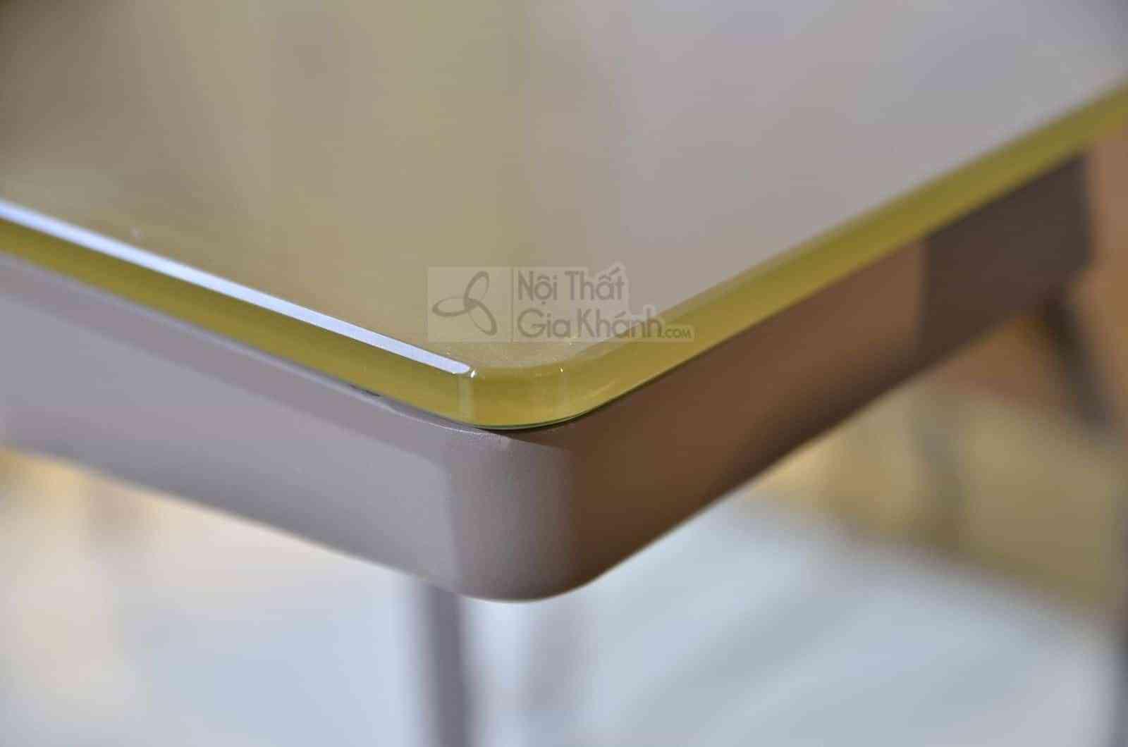 Bàn ăn 1m4 mặt kính cường lực màu nâu sang trọng RS-280T1m4 - ban an R5 280 1