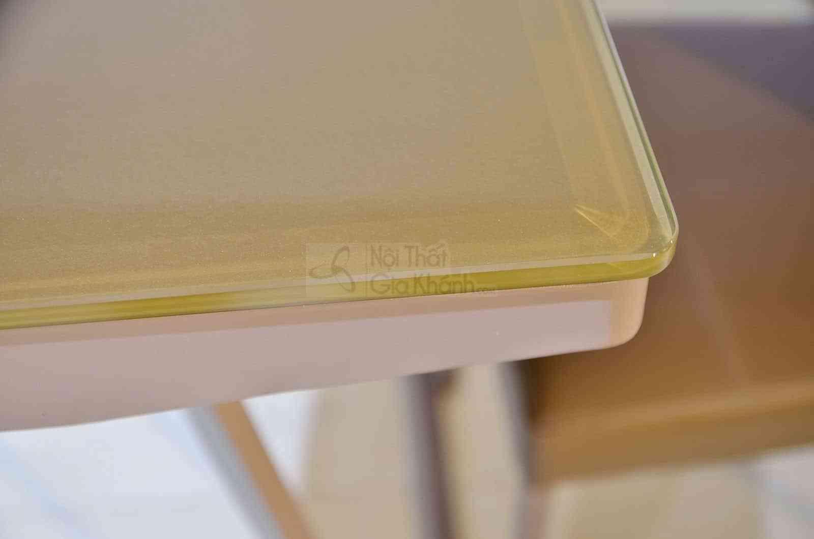 Bàn ăn 1m4 mặt kính cường lực màu nâu sang trọng RS-280T1m4 - ban an R5 280 3
