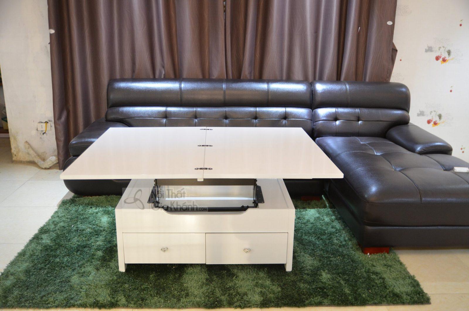 Bàn trà (Bàn Sofa) kết hợp bàn ăn thông minh màu trắng 801BA