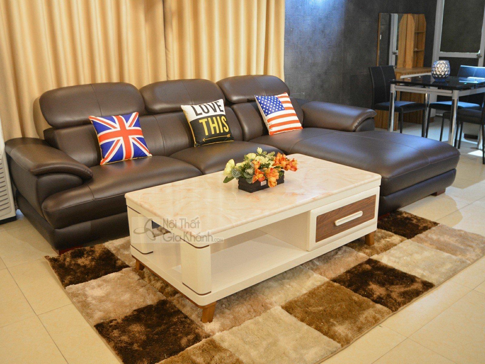 Bàn trà (Bàn sofa) gỗ mặt đá phòng khách 1m3 nhập khẩu HC5707-2