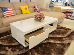 Bàn trà (Bàn sofa) gỗ phòng khách 1m3 mặt đá sang trọng HC5719-3