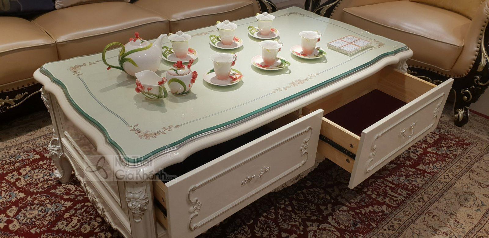 Bàn trà đẹp nhập khẩu cao cấp phong cách Pháp BTNK8801HG-14