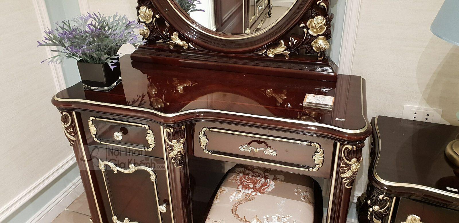 Bộ bàn trang điểm bằng gỗ cao cấp BD8802G