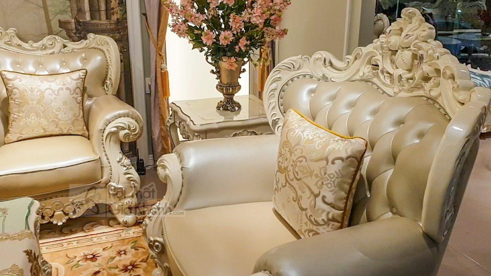 Bộ ghế sofa tân cổ điển sang trọng cho phòng khách SB931H-123