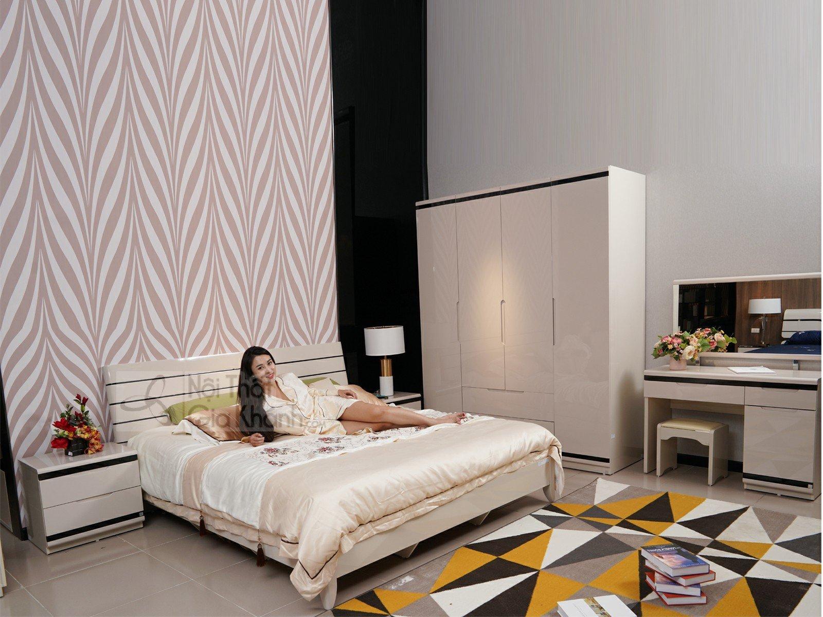Bộ Giường Tủ Phòng Ngủ Gỗ Tự Nhiên Hiện Đại 3307BG - bo phong ngu 3307BG 6