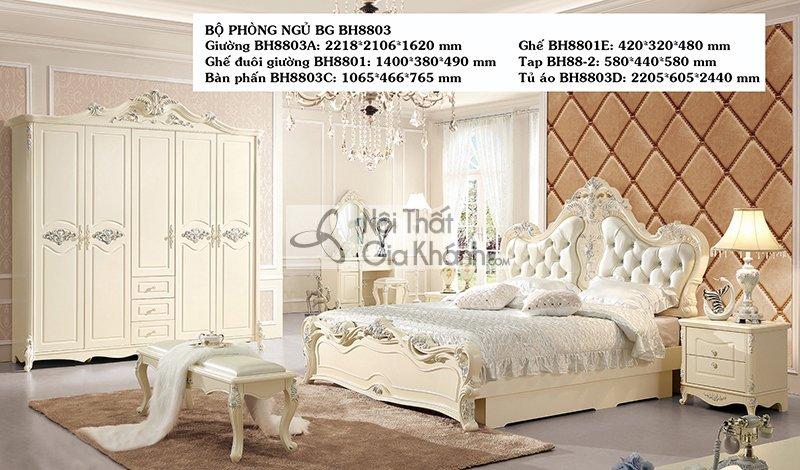 Tủ áo tân cổ điển giá rẻ BH8803D5