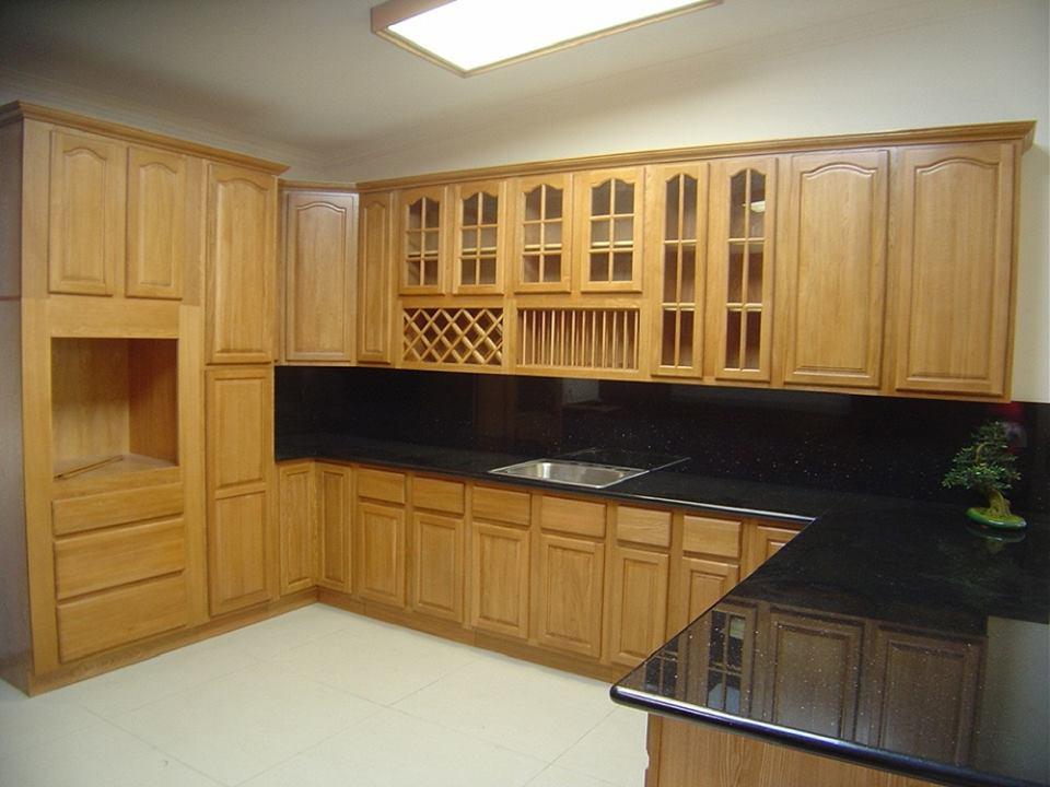 Bộ tủ bếp từ gỗ dổi