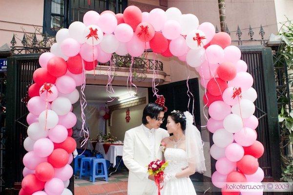 Các loại cổng đám cưới đẹp, độc, lạ - cong bong bong